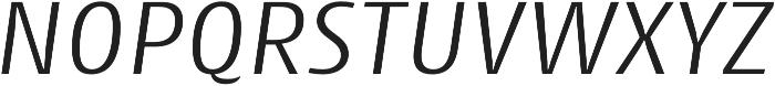Cantiga Light Italic otf (300) Font UPPERCASE