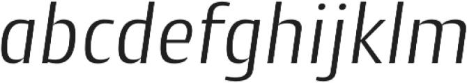 Cantiga Light Italic otf (300) Font LOWERCASE