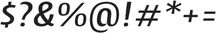 Cantiga Medium Italic otf (500) Font OTHER CHARS