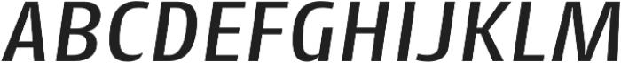 Cantiga Medium Italic otf (500) Font UPPERCASE