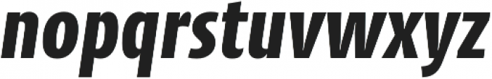 CantigaCnd ExtraBold Italic otf (700) Font LOWERCASE