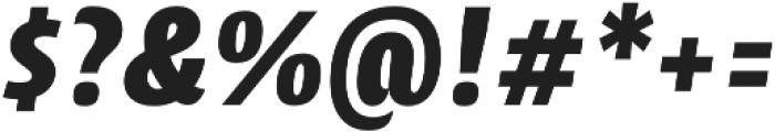 CantigaCnd UltraBold Italic otf (700) Font OTHER CHARS