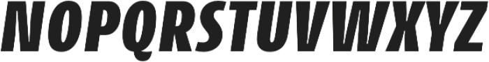CantigaCnd UltraBold Italic otf (700) Font UPPERCASE