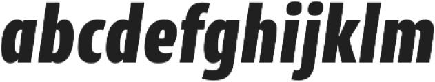 CantigaCnd UltraBold Italic otf (700) Font LOWERCASE