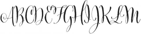 Cantoni Basic otf (400) Font UPPERCASE