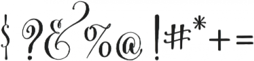 Cantoni Basic otf (700) Font OTHER CHARS