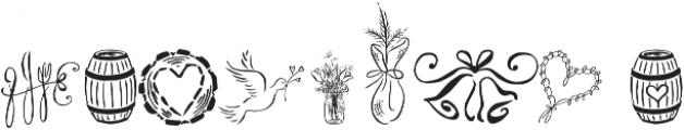 Cantoni Ornaments Regular otf (400) Font OTHER CHARS