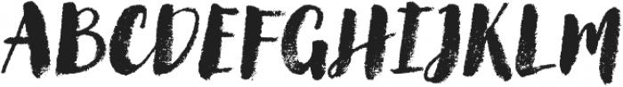 Canvas Script Heavy otf (800) Font UPPERCASE