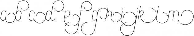 Canyons Regular-Alternates otf (400) Font LOWERCASE