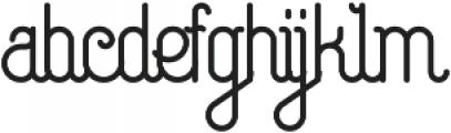 Capella glyph otf (400) Font LOWERCASE