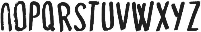 Capital Dry Brush ttf (400) Font LOWERCASE