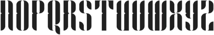 Capitolia Stencil Alernative otf (400) Font UPPERCASE
