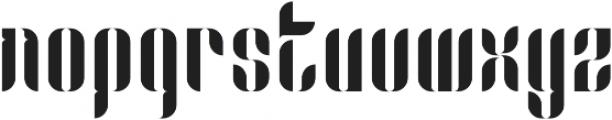 Capitolia Stencil Alernative otf (400) Font LOWERCASE