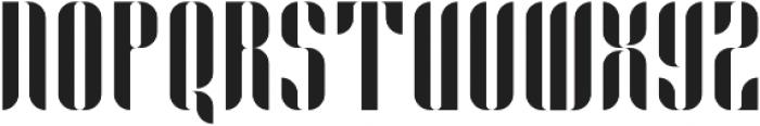 Capitolia Stencil Regular otf (400) Font UPPERCASE