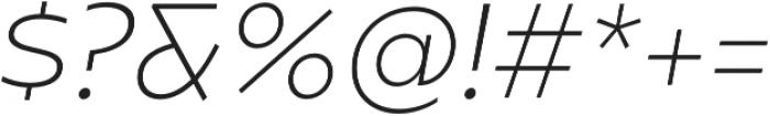 Caprina ExtraLight It otf (200) Font OTHER CHARS