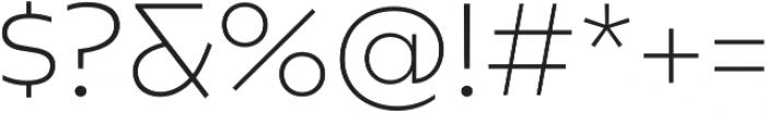Caprina ExtraLight otf (200) Font OTHER CHARS