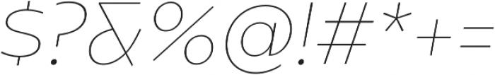 Caprina Thin It otf (100) Font OTHER CHARS