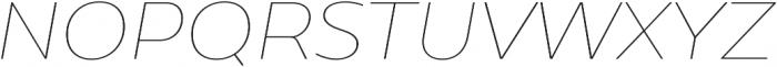Caprina Thin It otf (100) Font UPPERCASE