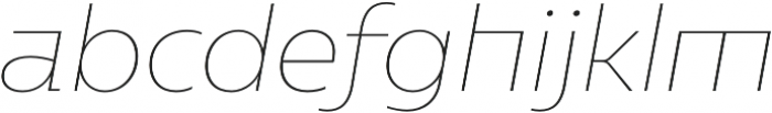 Caprina Thin It otf (100) Font LOWERCASE