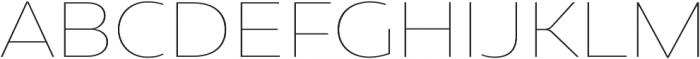 Caprina Thin otf (100) Font UPPERCASE