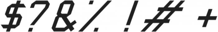 Captain America Oblique otf (400) Font OTHER CHARS