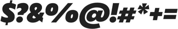 Captura Heavy Italic otf (800) Font OTHER CHARS