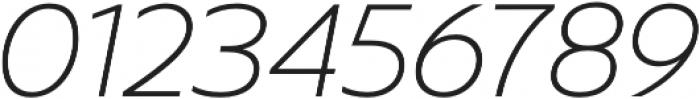 Captura Thin Italic otf (100) Font OTHER CHARS