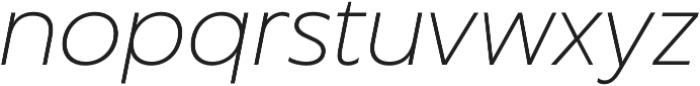 Captura Thin Italic otf (100) Font LOWERCASE