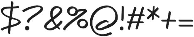 Caraban Regular otf (400) Font OTHER CHARS