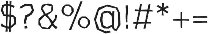 CardboardCat Light otf (300) Font OTHER CHARS