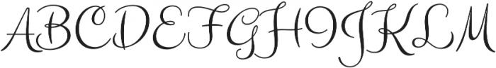 Carioca Script Pro Regular otf (400) Font UPPERCASE