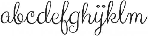 Carioca Script Pro Regular otf (400) Font LOWERCASE