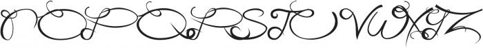 CarlinersSwash-Swash otf (400) Font UPPERCASE