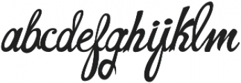 CarlinersSwash-Swash otf (400) Font LOWERCASE