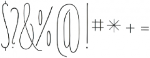 Carlino Serif Regular otf (400) Font OTHER CHARS