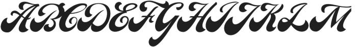 Carlson script otf (400) Font UPPERCASE
