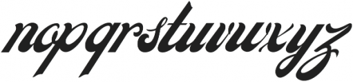 Carlson script otf (400) Font LOWERCASE