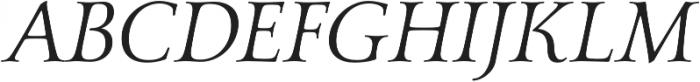 Carrig Basic Display Italic otf (400) Font UPPERCASE