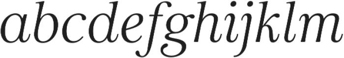 Carrig Basic Display Italic otf (400) Font LOWERCASE