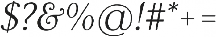 Carrig Pro Display Italic otf (400) Font OTHER CHARS