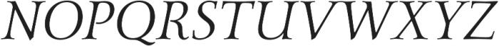 Carrig Pro Display Italic otf (400) Font UPPERCASE