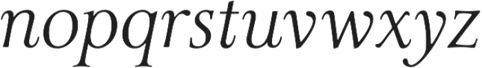 Carrig Pro Display Italic otf (400) Font LOWERCASE