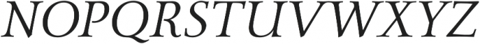 Carrig Pro Light Italic otf (300) Font UPPERCASE