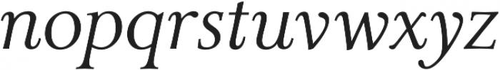 Carrig Pro Light Italic otf (300) Font LOWERCASE