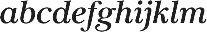 Carrig Pro Medium Italic otf (500) Font LOWERCASE