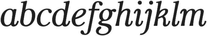 Carrig Text Italic otf (400) Font LOWERCASE