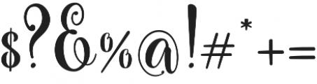 Carrolina Script Regular otf (400) Font OTHER CHARS