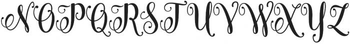 Carrolina Script Regular otf (400) Font UPPERCASE