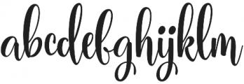 Carrolina Script Regular otf (400) Font LOWERCASE