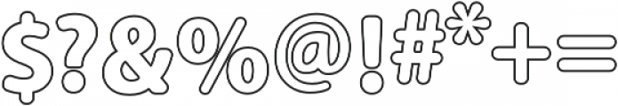 Carson Outline otf (900) Font OTHER CHARS